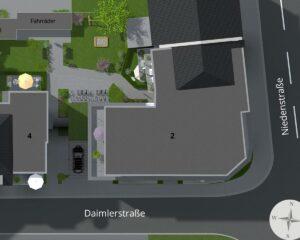 Lageplan Daimlerstrasse Hilden